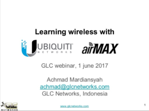 Learning Wireless with Ubiquiti Airmax